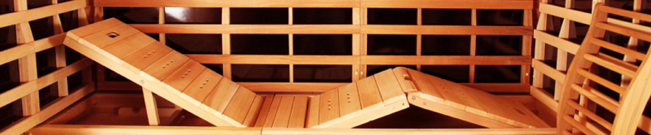 lounge bench inside of a Clearlight infrared sauna