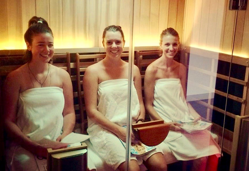 3 women in a Sanctuary 3 infrared sauna